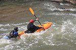 303-530-3357, John@OutsideImagery, Outside Imagery, Confluence Park, Denver, Colorado,  John Kieffer (photographer), Kieffer (photographer), person, people, man, male, urban, city, male, exercise, play, fun, excitement, kayak, kayaker, boat, female, woman, girl, rescue, drowning, life and death,