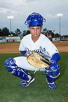 Luis Lara (7) of the Burlington Royals poses for a photo prior to the game against the Princeton Rays at Burlington Athletic Park on July 9, 2014 in Burlington, North Carolina.  The Rays defeated the Royals 3-0.  (Brian Westerholt/Four Seam Images)