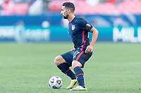 DENVER, CO - JUNE 3: Sebastian Lletget #17 of the United States dribbles with the ball during a game between Honduras and USMNT at EMPOWER FIELD AT MILE HIGH on June 3, 2021 in Denver, Colorado.