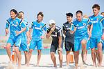 Marcelo Mendes & Japan team group (JPN),<br /> APRIL 20, 2014 - Beach Soccer :<br /> Beach Soccer Japan national team candidates training camp in Okinawa, Japan. (Photo by Wataru Kohayakawa/AFLO)Masayuki Komaki, Shunta Suzuki, Shinji Makino, Keisuke Matsuda
