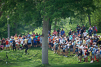 6th June 2021; Dublin, Ohio, USA; Patrick Cantlay (USA) hits his approach shot out of the rough on the 2nd fairway during the final round of the Memorial Tournament at Muirfield Village Golf Club in Dublin, Ohio