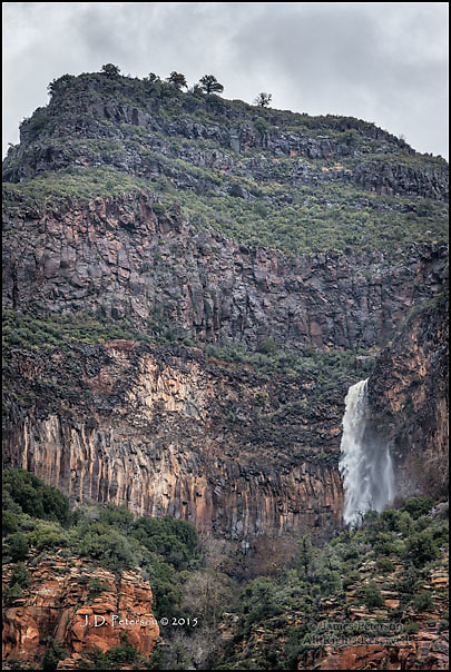 Transient Waterfall, Oak Creek Canyon, Arizona