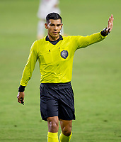 CARSON, CA - OCTOBER 18: Referee Victor Rivas during a game between Vancouver Whitecaps and Los Angeles Galaxy at Dignity Heath Sports Park on October 18, 2020 in Carson, California.