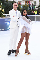 """Antony Cotton and Brandee Malto<br /> at the """"Dancing on Ice"""" launch photocall, natural History Museum, London<br /> <br /> <br /> ©Ash Knotek  D3365  19/12/2017"""