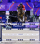 OMAHA, NEBRASKA - MAR 30: McLain Ward rides HH Azur during the FEI World Cup Jumping Final II at the CenturyLink Center on March 31, 2017 in Omaha, Nebraska. (Photo by Taylor Pence/Eclipse Sportswire/Getty Images)