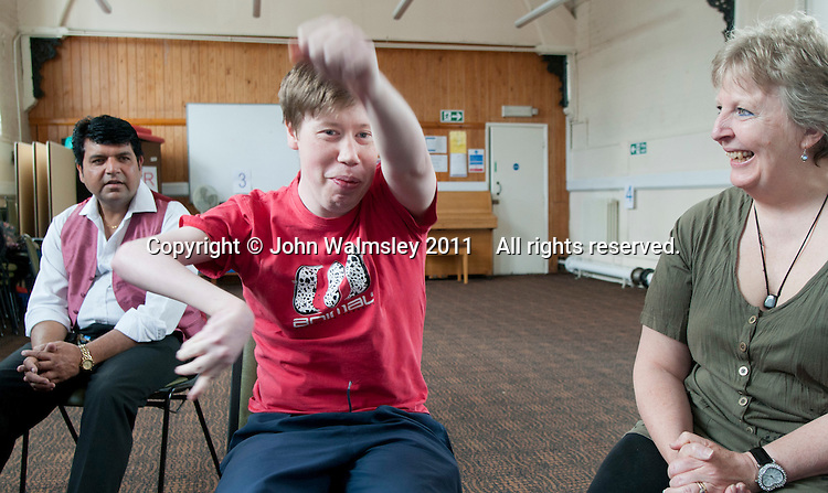 Participant and carers, Movement & Music, Learning Support group with their carers,  Adult Learning Centre, Guildford, Surrey.