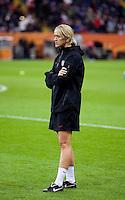 Dawn Scott.  Japan won the FIFA Women's World Cup on penalty kicks after tying the United States, 2-2, in extra time at FIFA Women's World Cup Stadium in Frankfurt Germany.