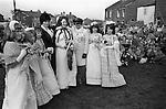 May Queen attendants and mother Gawthorpe May Queen Yorkshire 1974<br />