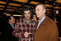 Real Beland (L) and Hockey Legend  ; former number 10 for Les Canadiens Montreal team Guy Lafleur (R)<br /> at the Premiere of the quebec movie  LES BOYS IV<br /> <br /> photo : Roussel  - Images Distribution