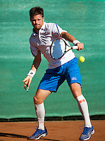 August 12, 2014, Netherlands, Raalte, TV Ramele, Tennis, National Championships, NRTK,  Nick van der Meer (NED)<br /> Photo: Tennisimages/Henk Koster