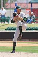 Scott Gaffney #34 of the Lynchburg Hillcats pitching during a game against the Kinston Indians at Granger Stadium on April 28, 2010 in Kinston, NC. Photo by Robert Gurganus/Four Seam Images.