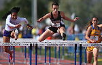 Spring Creek's Kellie Kinsman wins the Division IA girls 100-meter hurdle with a time of 15.29 during the NIAA state track and field championships at Carson High, in Carson City, Nev., on Friday, May 23, 2014. (Las Vegas Review-Journal, Cathleen Allison)