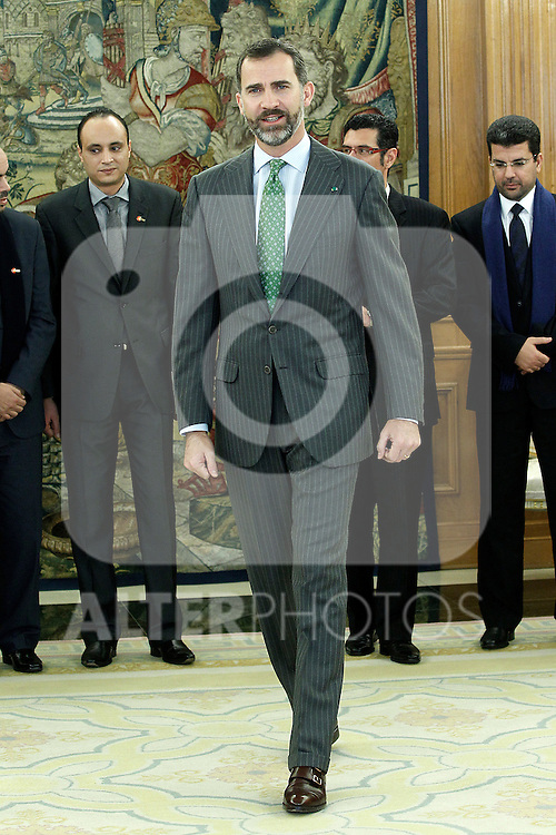 Prince Felipe of Spain during a meeting with a group of young Moroccan politicians.December 10 ,2012. (ALTERPHOTOS/Acero)