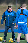 St Johnstone Training….31.03.17<br />Manager Tommy Wright pictured training on the astroturf at McDiarmid Park this morning ahead of tomorrow's game at Hamilton.<br />Picture by Graeme Hart.<br />Copyright Perthshire Picture Agency<br />Tel: 01738 623350  Mobile: 07990 594431