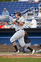 West Virginia Black Bears third baseman Will Craig (28) at bat during a game against the Batavia Muckdogs on August 21, 2016 at Dwyer Stadium in Batavia, New York.  West Virginia defeated Batavia 6-5.  (Mike Janes/Four Seam Images)