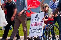 Protest Against the Foxconn Plant Mt. Pleasant Wisconsin 6-28-18