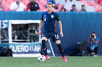 DENVER, CO - JUNE 3: Jackson Yell #14 of the United States moves with the ball during a game between Honduras and USMNT at EMPOWER FIELD AT MILE HIGH on June 3, 2021 in Denver, Colorado.