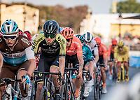Christopher Juul Jensen (DEN/Mitchelton-Scott)<br /> finish laps around the Champs-Élysées<br /> <br /> Stage 21 from Mantes-la-Jolie to Paris (122km)<br /> <br /> 107th Tour de France 2020 (2.UWT)<br /> (the 'postponed edition' held in september)<br /> <br /> ©kramon
