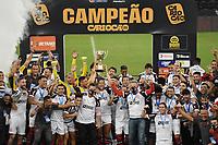 Rio de Janeiro (RJ), 22/05/2021 - Flamengo-Fluminense - Jogadores  do Flamengo,durante partida contra o Fluminense,válida pela final do Campeonato Carioca 2021,realizada no Estádio Jornalista Mário Filho (Maracanã), na zona norte do Rio de Janeiro, neste sábado (22).