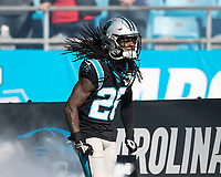 CHARLOTTE, NC - DECEMBER 15: Donte Jackson #26 of the Carolina Panthers during a game between Seattle Seahawks and Carolina Panthers at Bank of America Stadium on December 15, 2019 in Charlotte, North Carolina.