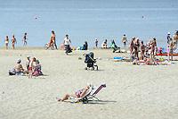 Strand von Narva Jöessu, Estland, Europa