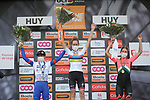Newly crowned World Champion Anna Van der Breggen (NED) Boels Dolmans Cyclingteam wins with Cecilie Uttrup Ludwig (DEN) FDJ Nouvelle-Aquitaine Futuroscope finishes in 2nd place and Demi Vollering (NED) Parkhotel Valkenburg 3rd at the end of La Fleche Wallonne Femmes 2020, running 124km from Huy to Mur de Huy, Belgium. 30th September 2020.<br /> Picture: ASO/Thomas Maheux | Cyclefile<br /> All photos usage must carry mandatory copyright credit (© Cyclefile | ASO/Thomas Maheux)