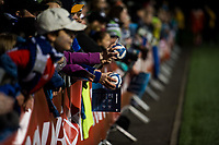 Seattle, WA - Saturday April 22, 2017: Seattle Reign FC fans during a regular season National Women's Soccer League (NWSL) match between the Seattle Reign FC and the Houston Dash at Memorial Stadium.
