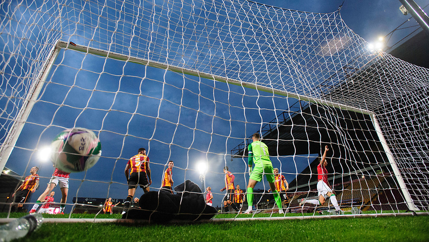 Photographer Chris Vaughan/CameraSport<br /> <br /> Carabao Cup Second Round Northern Section - Bradford City v Lincoln City - Tuesday 15th September 2020 - Valley Parade - Bradford<br />  <br /> World Copyright © 2020 CameraSport. All rights reserved. 43 Linden Ave. Countesthorpe. Leicester. England. LE8 5PG - Tel: +44 (0) 116 277 4147 - admin@camerasport.com - www.camerasport.com