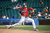 Pitcher Brett Morales (34) during the Under Armour All-American Game at Wrigley Field on August 18, 2012 in Chicago, Illinois.  (Copyright Mike Janes Photography)