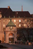 Europe/Autriche/Niederösterreich/Vienne: L'entrée du Schmetterlinghaus - serre à papillon - dans le Burggarten - quartier de Hofburg