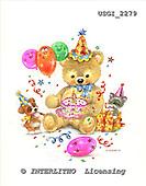 GIORDANO, CUTE ANIMALS, LUSTIGE TIERE, ANIMALITOS DIVERTIDOS, Teddies, paintings+++++,USGI2279,#AC# teddy bears