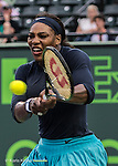 March 24 2016: Serena Williams (USA) defeats Christina McHale (USA) by 6-3, 5-7, 6-2, at the Miami Open being played at Crandon Park Tennis Center in Miami, Key Biscayne, Florida. ©Karla Kinne/Tennisclix/Cal Sports Media