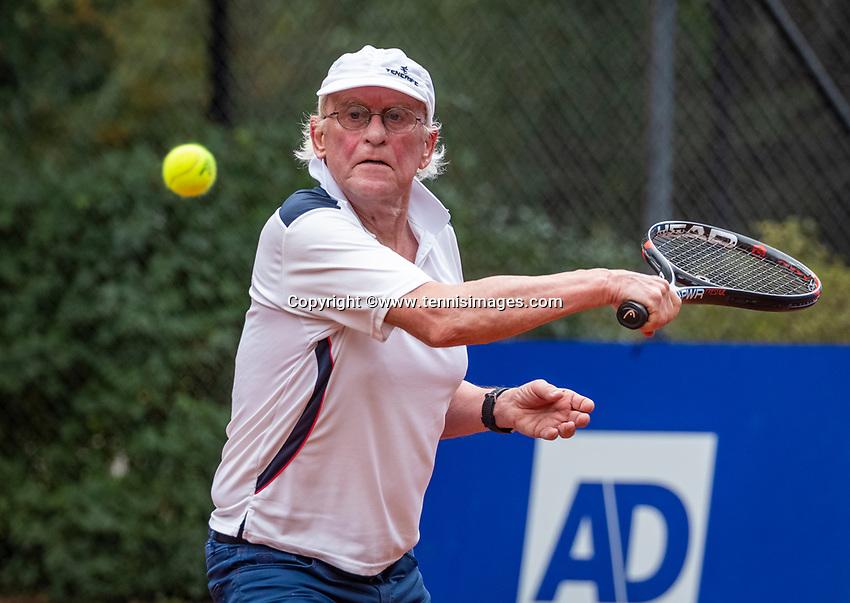 Hilversum, The Netherlands,  August 18, 2020,  Tulip Tennis Center, NKS, National Senior Championships, Men's single 80+ ,  Bard Bothe (NED) <br /> Photo: www.tennisimages.com/Henk Koster
