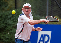 Hilversum, The Netherlands,  August 18, 2020,  Tulip Tennis Center, NKS, National Senior Championships, Men's single 80+ ,  Bard Bothe (NED) <br /> Photo: www.tennisimages.com/Henk Koster