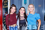 Claire Galvin, Katie Ryan and Aoife Crowe enjoying a Sceil Eile staff night out in Sully's bar Killarney on Saturday night
