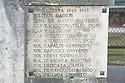 The Capaldi names on the Picinisco War Memorial.