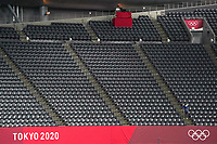 21st July 2021; Sapporo, Japan; No fans and empty seats during for womens Olympic Football Tournament Tokyo 2020 match between Great Britain and Chile at Sapporo Dome in Sapporo, Japan. Great Britain won the game by a score of 2-0