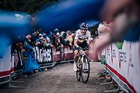 Sergio Henao (COL/SKY) up the infamous Monte Zoncolan (1735m/11%/10km)<br /> <br /> stage 14 San Vito al Tagliamento – Monte Zoncolan (186 km)<br /> 101th Giro d'Italia 2018