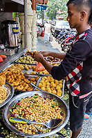 Little India Streetside Restaurant Serving Indian fast Food, Brickfields, Kuala Lumpur, Malaysia.