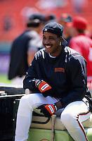 Baseball: San Francisco Giants Barry Bonds. San Francisco, CA 5/18/1995 MANDATORY CREDIT: Brad Mangin