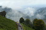 The peloton led by Team Jumbo-Visma climb Col de Marie Blanque during Stage 9 of Tour de France 2020, running 153km from Pau to Laruns, France. 6th September 2020. <br /> Picture: ASO/Alex Broadway   Cyclefile<br /> All photos usage must carry mandatory copyright credit (© Cyclefile   ASO/Alex Broadway)