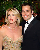"Washington, DC - May 1, 2004 -- Deborah Norville, left, and Bill Rancic, right, winner of ""The Apprentice"" arrives for the 2004 White House Correspondents Association Dinner in Washington, D.C. on May 1, 2004..Credit: Ron Sachs / CNP.(RESTRICTION: No New York Metro or other Newspapers within a 75 mile radius of New York City)"