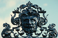 Architectural detail of metal work on King Henry's palace grounds. London, England Europe.