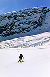 Ski descent of Fabergstolsbreen, Norway, May 1999.
