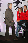 Real Madrid  coach Jose Mourinho (l),and the players Luka Modric (c) and Ricardo Carvalho participate and receive new Audi during the presentation of Real Madrid's new cars made by Audi at the Jarama racetrack on November 8, 2012 in Madrid, Spain.(ALTERPHOTOS/Harry S. Stamper)
