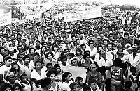 Enterro do líder sindical Gringo assassinado no sul do Pará. Conceção do Araguaia-Pará-Brasil.<br />1977<br />Foto: Lúcio Flávio Pinto/ Interfoto<br />Negativo PxB nº 5685 T3 FC15 F 19