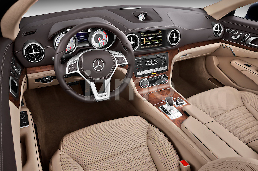 High angle dashboard view of a 2013 Mercedes SL Class