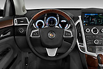 Steering wheel view of a 2010 Cadillac SRX Performance