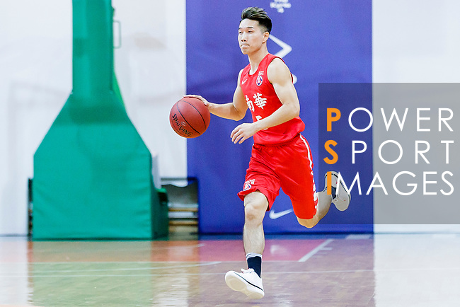 Lo Yi Ting #5 of SCAA Men's Basketball Team dribbles the ball up court against the Winling during the Hong Kong Basketball League game between SCAA vs Winling at Southorn Stadium on June 19, 2018 in Hong Kong. Photo by Yu Chun Christopher Wong / Power Sport Images