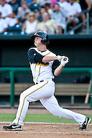 Matt Dominguez of the  Jacksonville Suns during a game vs. the Tennessee Smokies July 10 2010 at Baseball Grounds of Jacksonville in Jacksonville, Florida. Photo By Scott Jontes/Four Seam Images